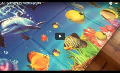 A2 UV ceramic printer video