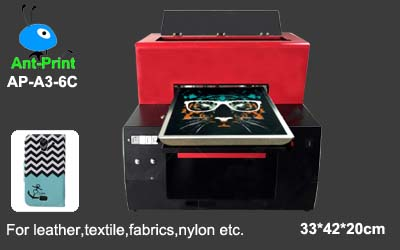 Digital leather printer with textile white ink