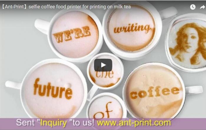 selfie coffee food printer