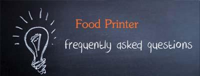 faqs-food printer