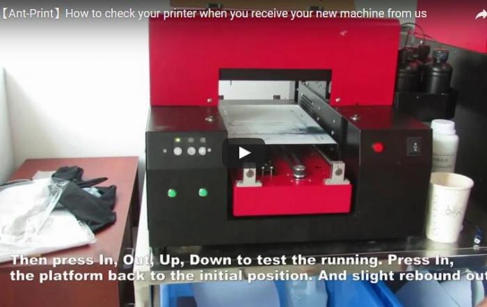 check your new printer