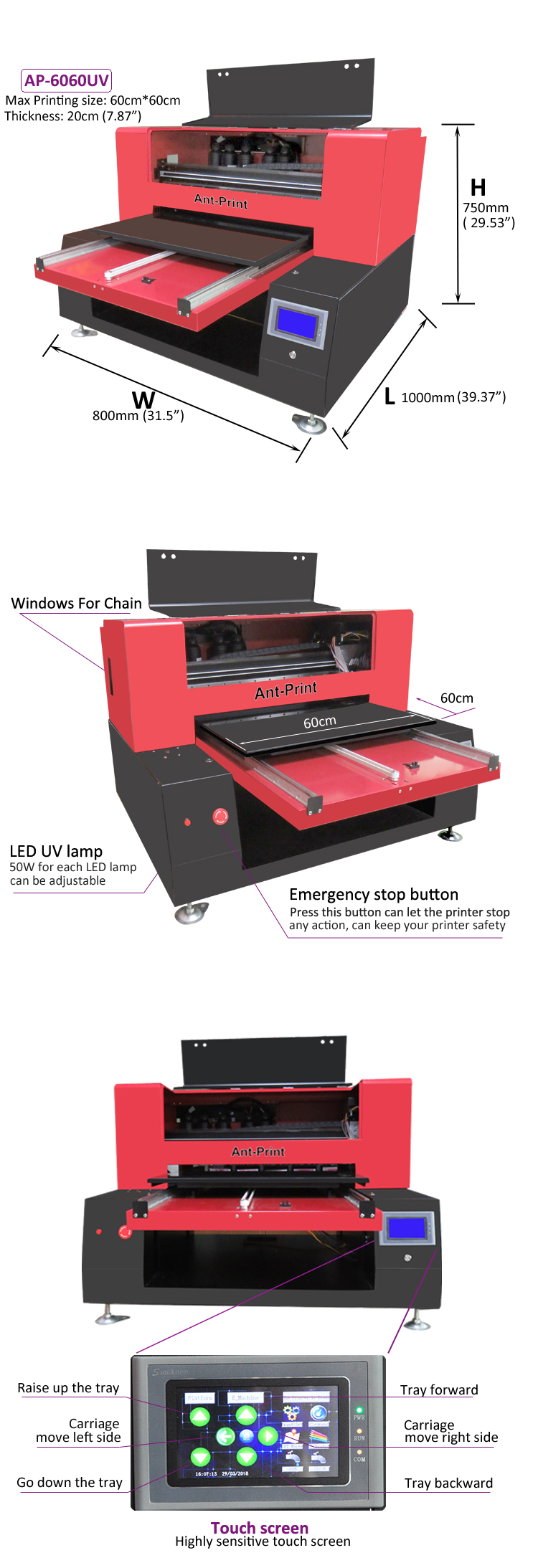6060 UV flatbed printer